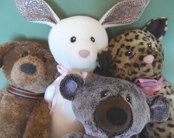 Floppy- Animal pdf pattern stuffed doll-Bear-Dog-Cat-Rabbit