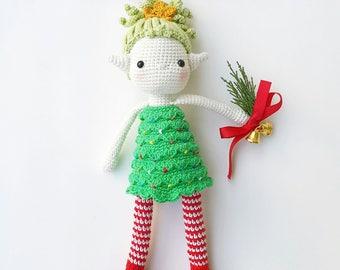 Chamy the Christmas Elf- Amigurumi Pattern