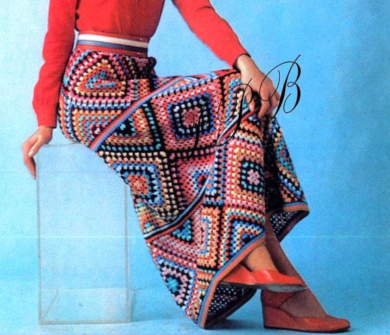 Crochet Skirt Long Crochet Skirt Pdf Crochet Pattern Motif