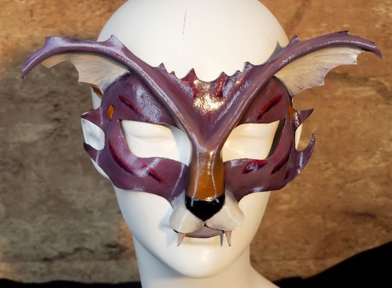 Cheshire Cat Leather Mask