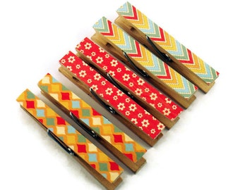 Decorative Clothespins Altered Clothespins Magnetic Clothespins in Free Spirit