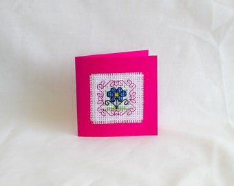 Gift Card - cross stitch - greeting - birthday - just because - Mother's Day - gift - present