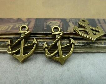 50pcs 15x19mm The Anthor Antique Bronze Retro Pendant Charm For Jewelry Bracelet Necklace Charms Pendants C6213