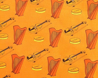 Musical instruments of Ireland fabric