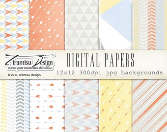 Scrapbook Papers and Digital Paper Pack 22