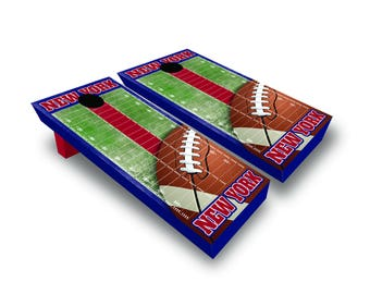 Corrugated New York Football Corn Hole Game