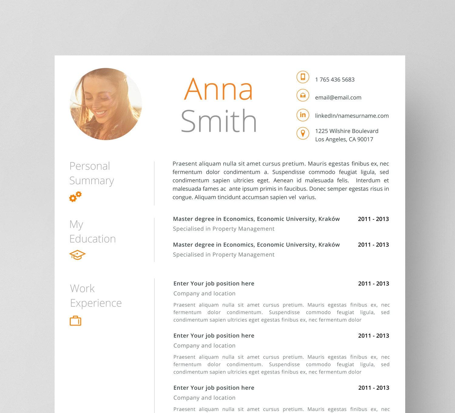 🔎zoom  Free Resume And Cover Letter Templates
