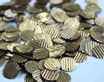 75 Metallic Golden Color/ Round sequins/line texture/ KBRS045