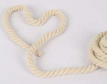 5 Yards Zakka Style Off White Color Cotton Rope / Decorative Rope