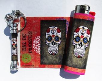 Dia De Muertos Pipe and Lighter Decal Set