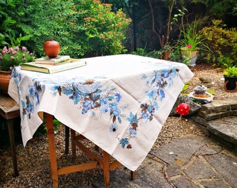 Mid Century Modern Tablecloth . Designer Luther Travis Linens Table Cloth .  Large Rectangle Tablecloth .