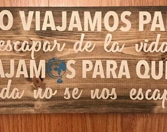 Travel Wood Sign