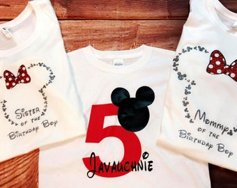 Birthday Disney shirts