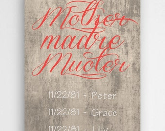 Personalized Mother's Day Canvas - Personalized Mother's Day Canvas Signs - Mother's Day Gifts - Canvases for Mom - Gifts for Her - CA0118