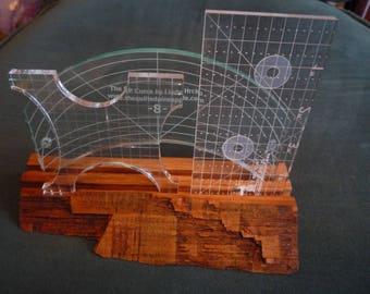 Oak Longarm Quilt Ruler Stand