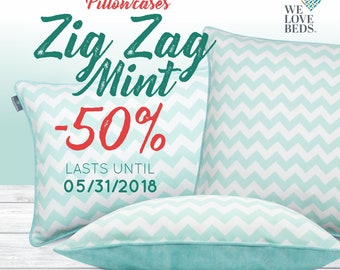 We Love Beds Cushion Zig Zag Pillow Case High Quality
