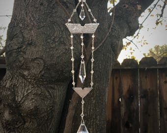 Crystal Prism Sun Catcher | Art Deco Mobile | Feng Shui Gift |