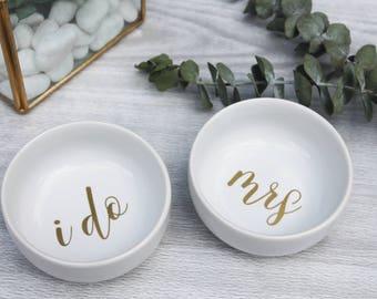 Personalized Mrs Ring Dish   Bridal Ring Dish   Jewelry Dish   Jewelry Trinket   I Do Ring Dish   Bridal Shower Gift   Wedding Dish