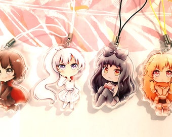 RWBY Clear Acrylic Charms