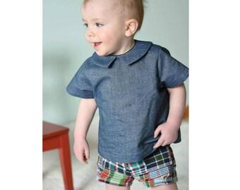 PATTER Shirt pattern Pdf sewing, Baby Boy Girl shirt, Children Shirt, Easy Blouse Top, toddler newborn up to 6 yrs