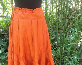 Wrap-around skirt pure silk