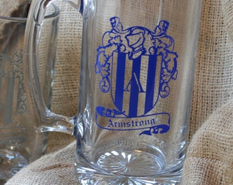 Family Crest Beer Glass