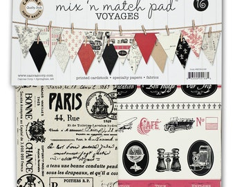 Canvas Corp Mix & Match Pad, Voyages Collection, 12X12 Scrapbooking and Paper Crafting