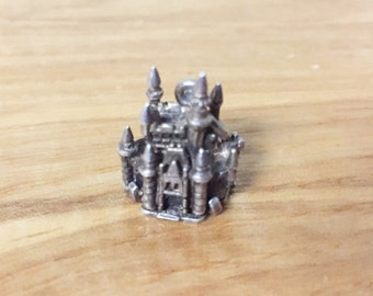 Super Rare Vintage Disney Cinderella Castle Charm Sterling Silver Opens To A Mouse