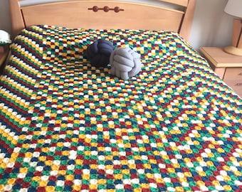 Bohemian crochet bedcover, bedspread,bedcover, throw blanket , bohem bedcover , handcrochet bedcover