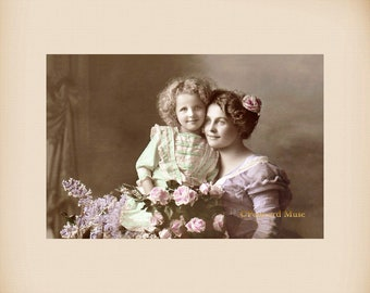 Mother And Daughter New 4x6 Vintage Postcard Image Photo Print CE11