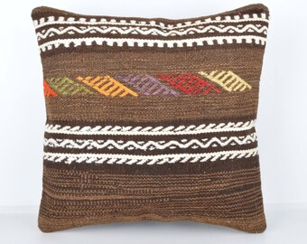 Wool Pillow, Kilim Pillow,  Decorative Pillows, Designer Pillows,  Bohemian Decor, Bohemian Pillow, Accent Pillows, Throw Pillows, tp1001d