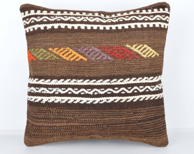 Wool Pillow, Kilim Pillow,  Decorative Pillows, Designer Pillows,  Bohemian Pillow, Accent Pillows, Throw Pillows, KP38 (tp1001d)