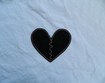 Broken Heart iron-on patch