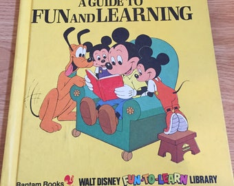 Walt Disney Bantam book - a guide to fun and learning (Volume 19)(1984) Vintage Disney Children's Book