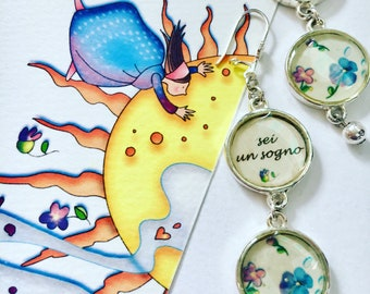 You're a dream earrings + Card Bookmark-Single Piece-