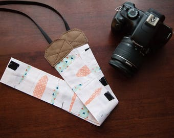 Feather Camera Strap, Genuine Leather, Heavy Duty Photography Strap