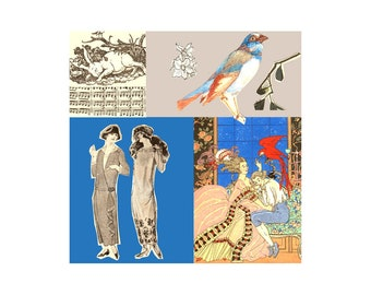 Nouveau 2. Open Edition Print. Vintage Theme.