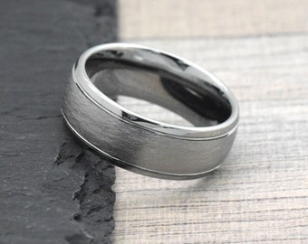 Tungsten Ring, Men's Ring, Men's Tungsten Wedding Band, Men's Wedding Band, Male Wedding Band, Tungsten Wedding Band Mens, Engravable Free
