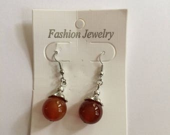 Earrings Nature Beads