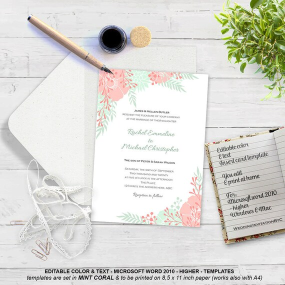 Boho floral wedding invitation template printable invitation stopboris Choice Image