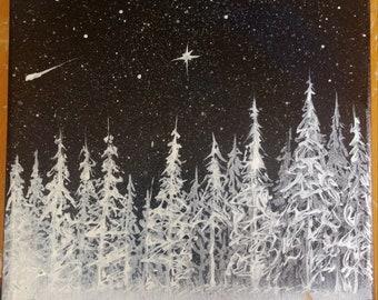Starry, Snowy Night