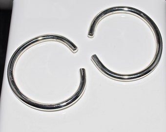 8 Gauge .999 Fine Silver Hoop Earrings