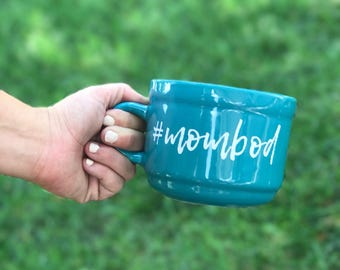 MomBod - 22oz Blue Soup Mug