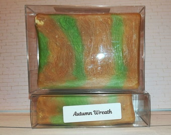 CLEARANCE Autumn Wreath Scented Handmade Soap