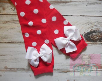 Leg Warmers, Girls leg warmers, Red Polka Dot Leg Warmers, Toddler Leg Warmers, Baby Girl Leg Warmers, Christmas Leg Warmers, Valentines Day