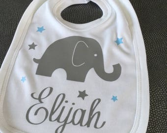 Personalized name cotton baby bib