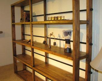 Rustic Industrial Book Shelf
