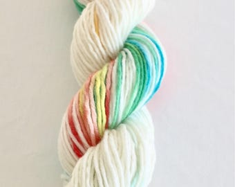 100% Merino Wool Yarn Hand Dyed  Yarn Hand Unicorn Yarn