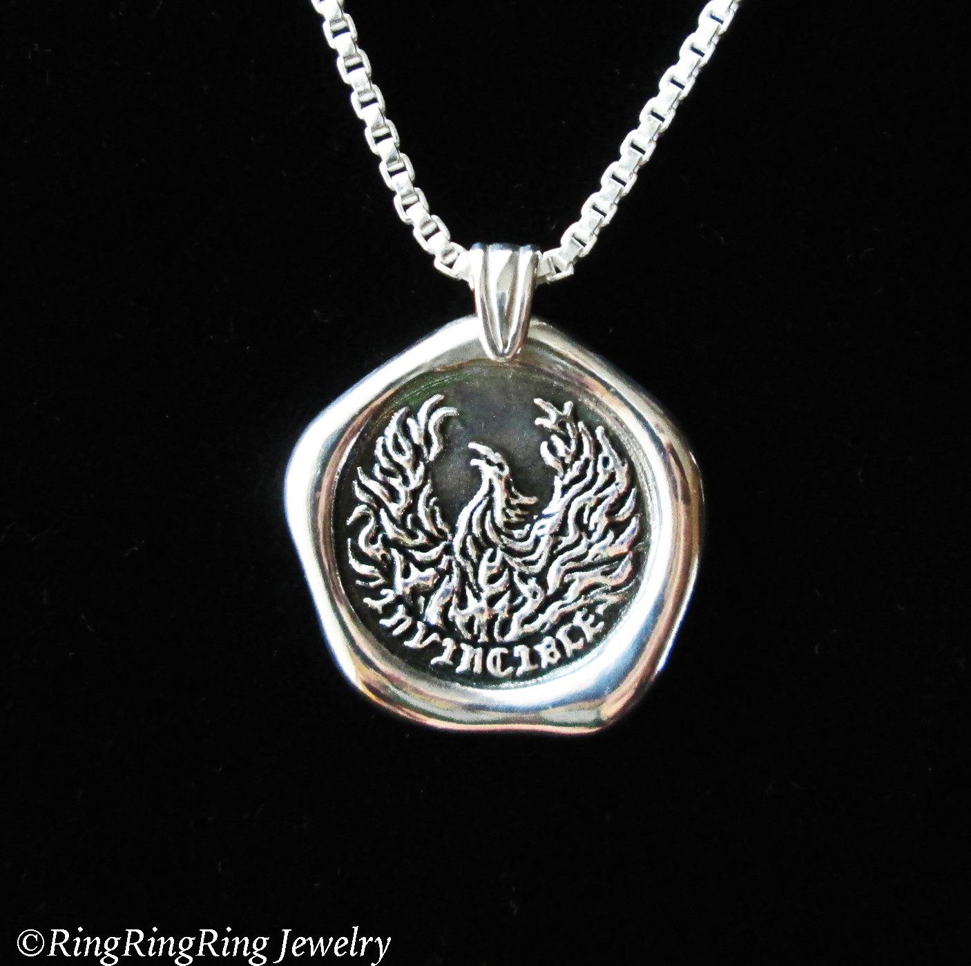 Invincible phoenix necklace phoenix pendant sterling silver zoom aloadofball Images