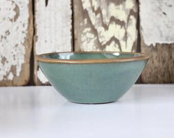 Small Ceramic Bowl / Green Ceramic Bowl / Ready to Ship